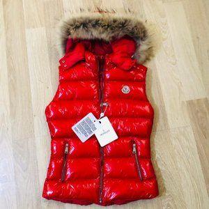 Moncler Women's Vest Red Color Nwt (LARGE)